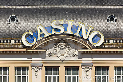 Casino neon sign at Deauville-Trouville