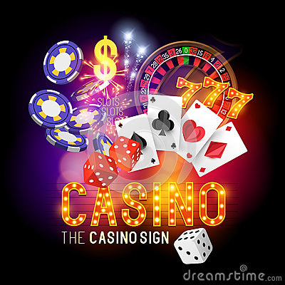 Free Casino Party Vector Royalty Free Stock Photos - 46717008