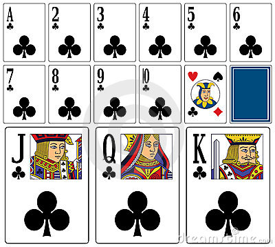 Casino Playing Cards - Clubs