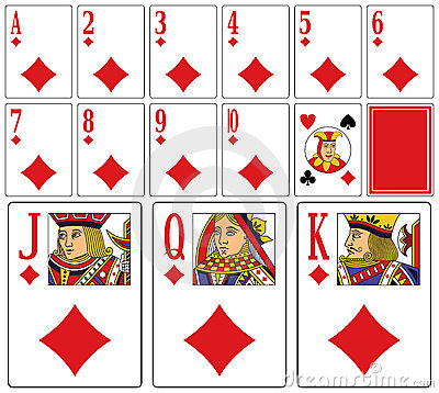 Casino Playing Cards - Diams