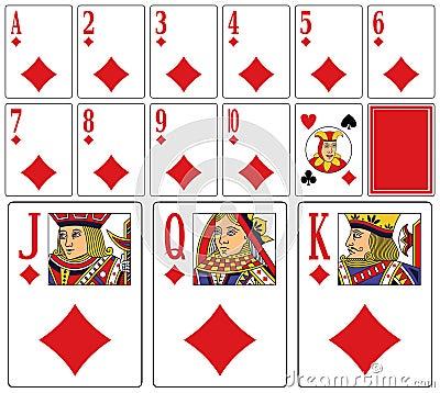 Free Casino Playing Cards - Diams Royalty Free Stock Photos - 7968908