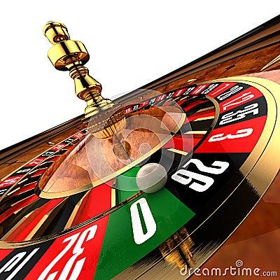 Casino Roulette on white