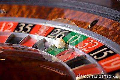 Casino roulette, zero wins