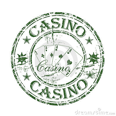 Casino rubber stamp