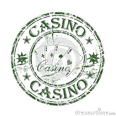 Casino rubber stamp