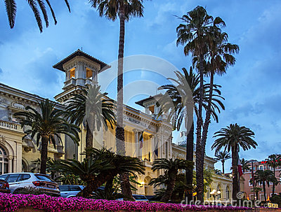 Casino - San Remo - Imperia -Italy. Editorial Stock Photo