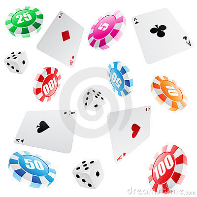 Free Casino Seamless Pattern Royalty Free Stock Photos - 9423908