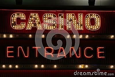 Casino sign neon lights