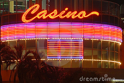 Casino sign at night