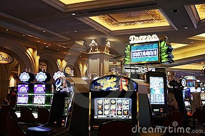 Casino slot machines Editorial Stock Photo