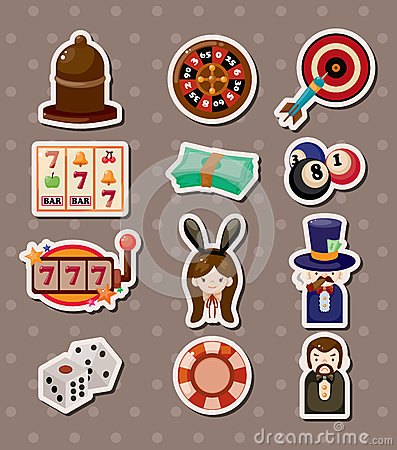 Free Casino Stickers Royalty Free Stock Images - 27004679