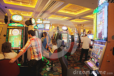 Casino in venetian hotel Editorial Photography