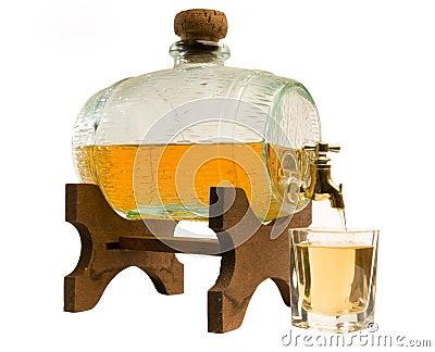Cask of liquor
