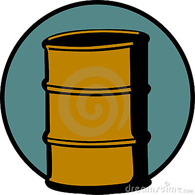 cask or metal barrel cointainer. Vector
