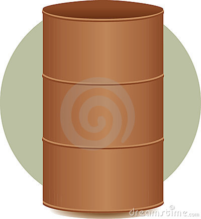 Cask or metal barrel container illustration