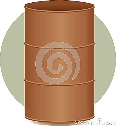 Cask or metal barrel container illustration