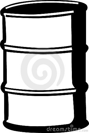 cask or metal barrel vector illustration
