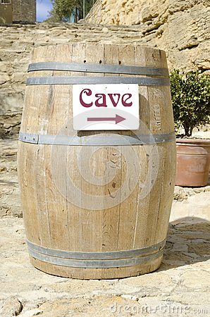 Cask of wine cellar