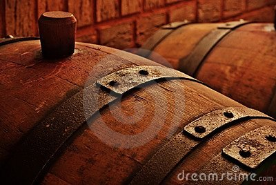Cask in wine celler