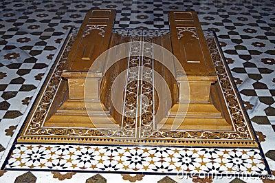 Caskets in an Islamic Tomb
