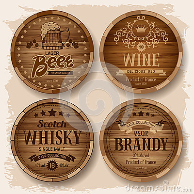 Free Casks With Alcohol Drinks Stock Images - 41603114