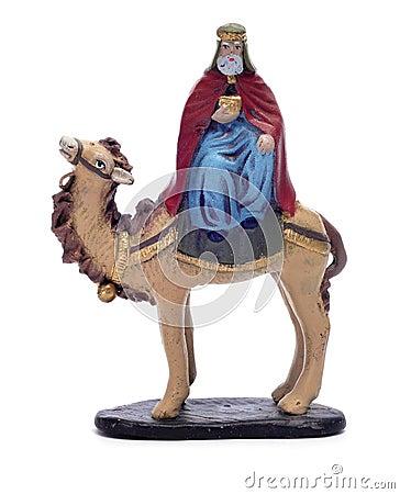 Caspar Magi riding a camel