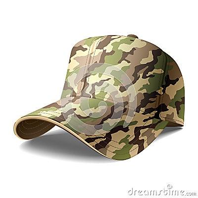 Casquillo del ejército. Vector.