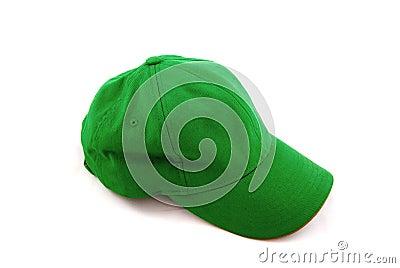 Casquillo verde de los deportes