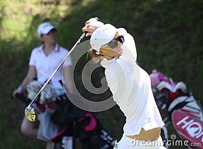 Cassandra Kirkland an den Fourqueux-Golf Damen öffnen sich Redaktionelles Stockfoto