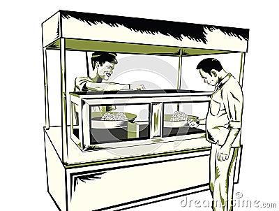 Casse-croûte indien d aliments de préparation rapide