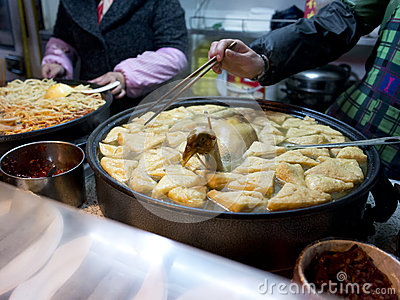 Casse-croûte célèbre dans le fuzimiao de Nanjing