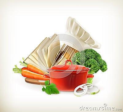 Casserole avec les l gumes et le livre de cuisine for Livre cuisine legumes