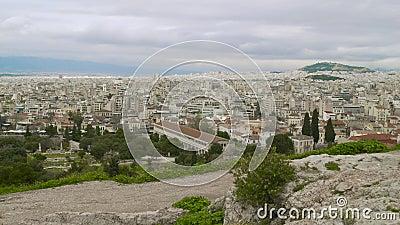 Casserole d'horizon d'Athènes Grèce clips vidéos