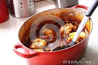 Casserole in pot A