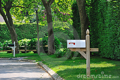 Cassetta postale bianca