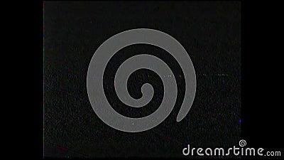 Cassette antique de film de VHS ou TV analogue Erreur d'écran Système domestique visuel HD banque de vidéos