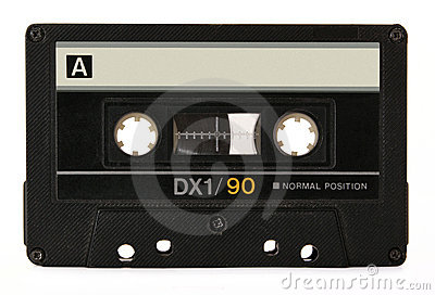 Cassette audio negro