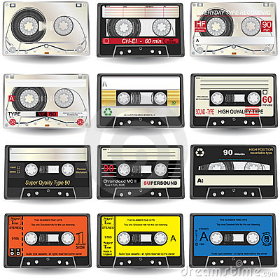 Free Cassette Icons Stock Photo - 11536680
