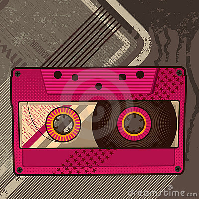 Free Cassette Retro Background Royalty Free Stock Photography - 9965987