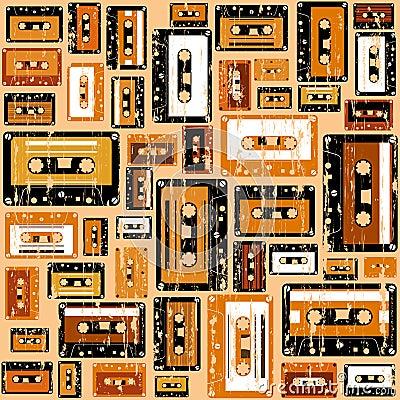 Cassette tape pattern.