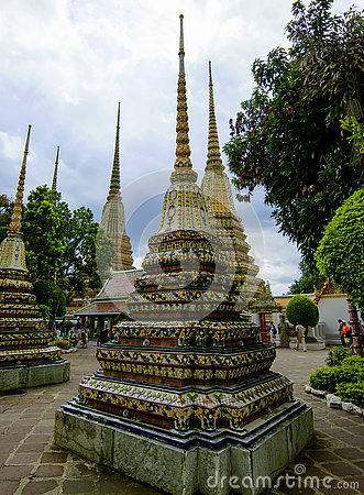 Free Cassical Thai Architecture Wat Pho Public Temple - Bangkok,Thailand 9 Royalty Free Stock Photos - 78680208