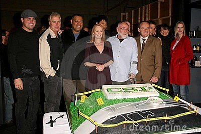Cast of  CSI Crime Scene Investigation  at the CSI Crime Scene Investigation 200th Episode Celebration. Universal Studios, Univers Editorial Stock Photo