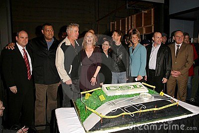 Cast of  CSI Crime Scene Investigation  at the CSI Crime Scene Investigation 200th Episode Celebration. Universal Studios, Univers Editorial Stock Image
