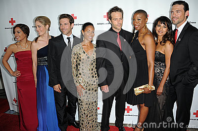 Cast of Hawthorne at the Red  Cross Red Tie Affair Fundraiser Gala, Fairmount Miramar Hotel, Santa Monica, CA. 04-17-10 Editorial Photography