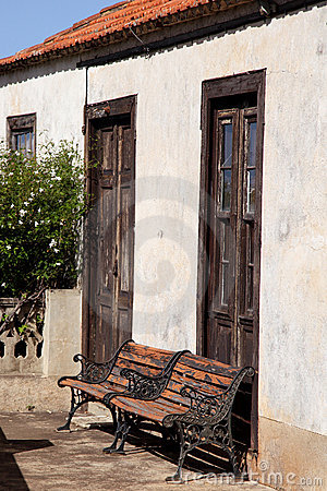 Cast iron benches in the Canary Islands