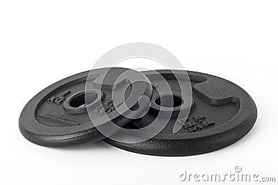 Cast iron discs.
