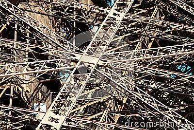 Cast iron girders of the Eiffel Tower