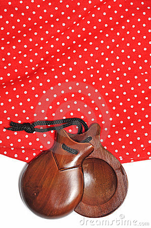 Castanets and flamenco dress
