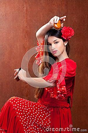 Castanets gipsy flamenco dancer Spain girl
