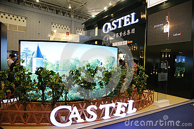 Castel booth Editorial Stock Image